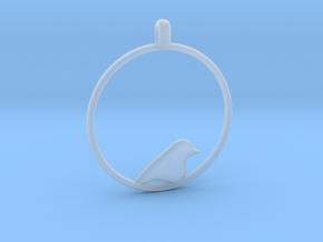 Little Bird Symbolic Pendant  in Smooth Fine Detail Plastic