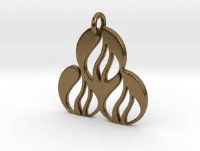 Fire Pendant in Natural Bronze
