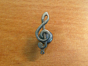 Tenor Treble Clef Cufflink (single) in Stainless Steel