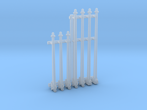 1/16 M10 Turret Tarp' Struts in Smooth Fine Detail Plastic