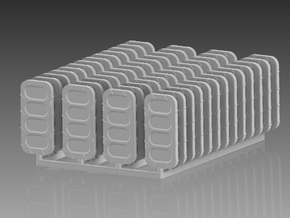 Watertight Doors Set 1/128 in Smooth Fine Detail Plastic