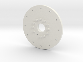 "1.9 MILITANT WHEEL COVER,FOR A ""GLUED"" 1.9 (AXIAL in White Strong & Flexible: 1:10"
