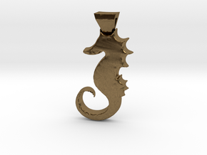 Seahorse in Natural Bronze