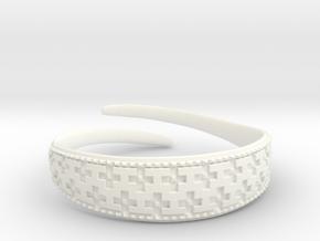 Viking Bracelet 2 in White Processed Versatile Plastic: Large