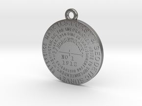 Horsetooth Mountain Benchmark Keychain in Natural Silver