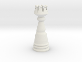 Fantasy Wind Chess - Queen in White Natural Versatile Plastic