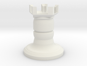 Fantasy chess - castle in White Natural Versatile Plastic