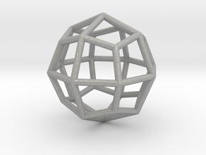 0313 Deltoidal Icositetrahedron E (a=1cm) #001 in Aluminum