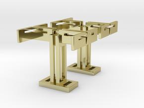 Big T , Cufflinks in 18K Gold Plated