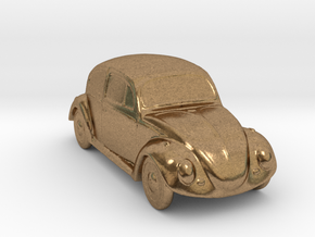 Silver Beetle in Natural Brass
