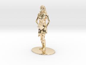 Elven Magic-User Miniature in 14K Yellow Gold: 1:60.96