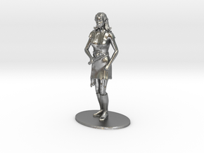 Elven Magic-User Miniature in Natural Silver: 1:60.96
