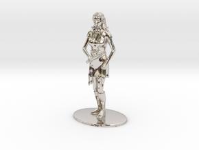 Elven Magic-User Miniature in Rhodium Plated Brass: 1:60.96