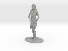 Elven Magic-User Miniature in Raw Aluminum: 1:60.96
