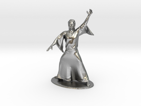 Magic-User Miniature in Natural Silver: 1:60.96