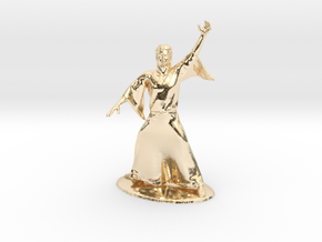 Magic-User Miniature in 14k Gold Plated Brass: 1:60.96