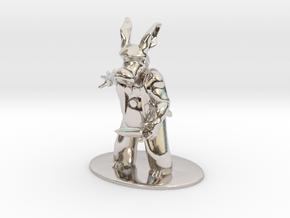 Cerebus the Aardvark Miniature in Rhodium Plated Brass: 1:60.96