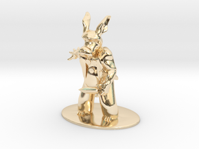 Cerebus the Aardvark Miniature in 14k Gold Plated Brass: 1:60.96