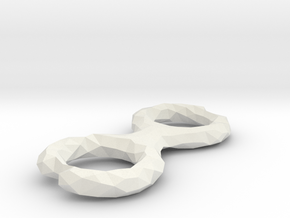 Cord Winder Low Poly in White Natural Versatile Plastic