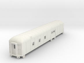 D&RGW RPO Baggage Car NScale in White Natural Versatile Plastic