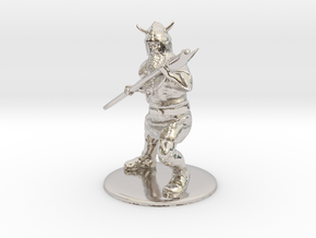 Dwarf with Bardiche Miniature in Rhodium Plated Brass: 1:60.96