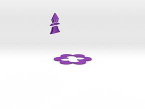 花.stl in Purple Strong & Flexible Polished