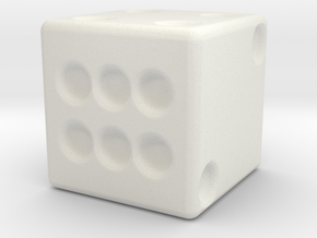 DICE in White Natural Versatile Plastic