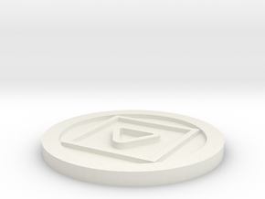 Simple cooling coasters in White Natural Versatile Plastic