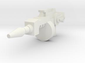 Grasshopper Tommy Gun 5mm handle in White Natural Versatile Plastic