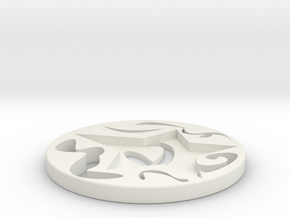 coaster in White Strong & Flexible