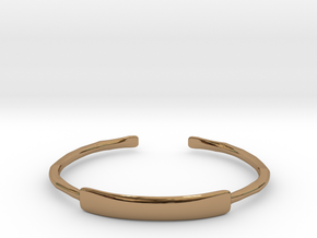 Hammered Cuff Bracelet in Polished Brass