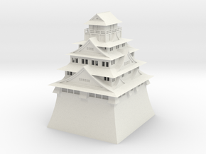 Osaka Castle in White Natural Versatile Plastic