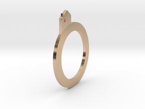Village rings in 14k Rose Gold Plated Brass