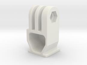 GoPro Hot Shoe Mount in White Natural Versatile Plastic