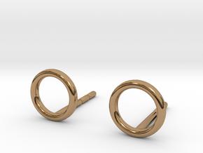 minimal stud earrings in Polished Brass
