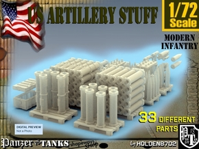 1-72 US Artillery Stuff in Smooth Fine Detail Plastic