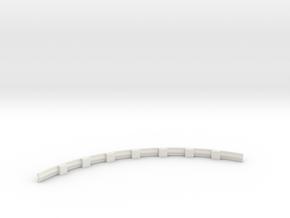 Für Anki Overdrive - Leitplanke Kurve Innen V3 in White Natural Versatile Plastic
