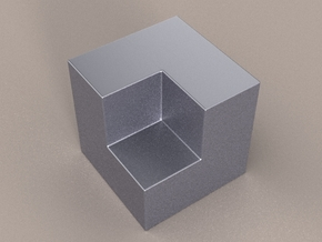 7/8 Inch Boolean Solid in Polished Nickel Steel