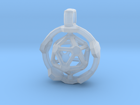 Icosahedron in Smooth Fine Detail Plastic