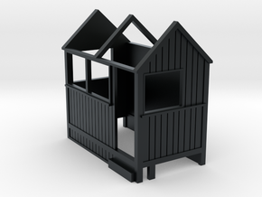 4mm Scale Corris Signal Box in Black Hi-Def Acrylate
