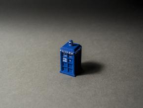Tardis Pendant in Blue Processed Versatile Plastic
