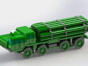 9A52 Smerch Rocket Launcher 1/200 in Smooth Fine Detail Plastic