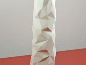 Facet vase in White Natural Versatile Plastic
