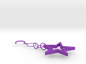 Star Earrings in Purple Processed Versatile Plastic