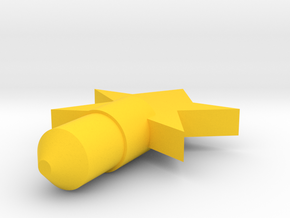 Star Dust Plug in Yellow Processed Versatile Plastic