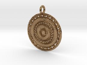 Reiki Energy Pendant in Natural Brass