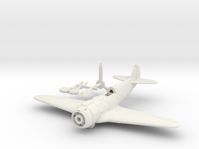 1/144 Lavochkin La-5 in White Natural Versatile Plastic: 1:100