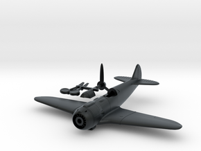 1/144 Lavochkin La-5 in Black Hi-Def Acrylate: 1:100