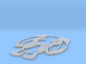 Button Rabbit in Smooth Fine Detail Plastic