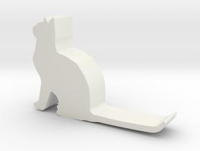Cat hook 1 in White Natural Versatile Plastic